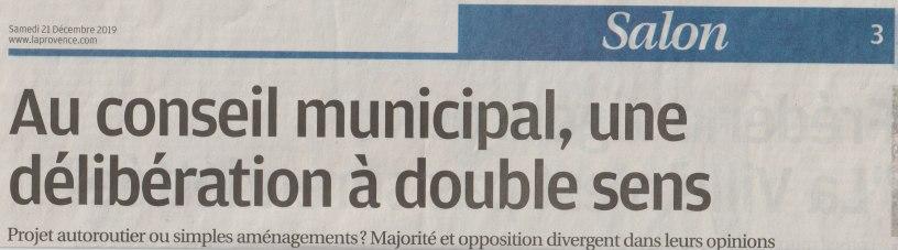 [2019.12.21] La Provence - Conseil Municipal du 19.12.2019 b
